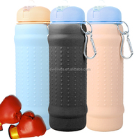 Black boxing branded water bottle