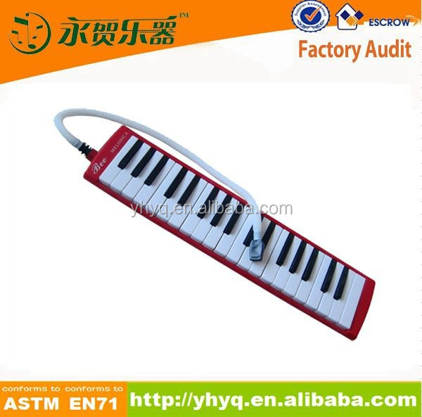 37 Key rock musical plastic melodica,school melodica with soft bag