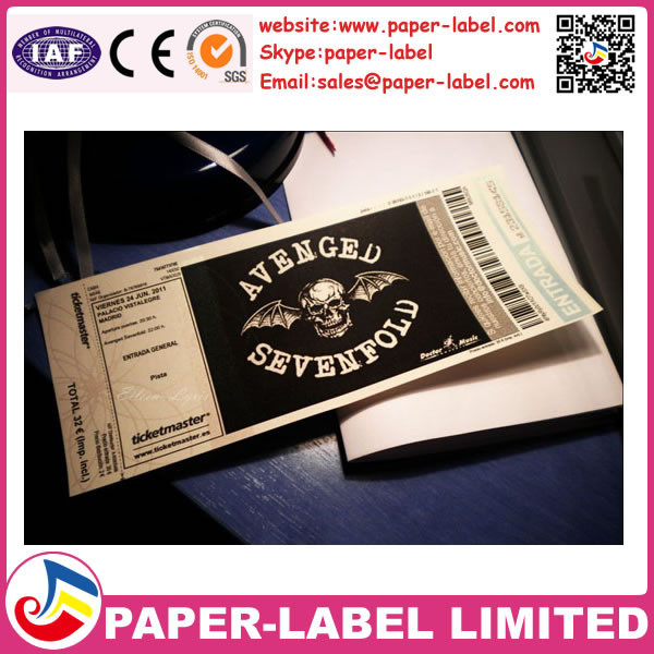 Perforated numbering entrance ticket