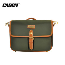 Military style army green waterproof nylon camera sling bag