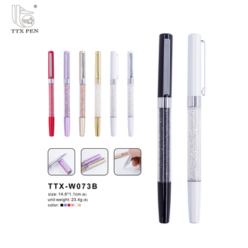 2018 Wedding Souvenirs Gift Mini Crystal Ballpoint Pen Filled with Crystal
