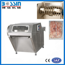 High production efficiency durable frozen meat slicer with s/s blade