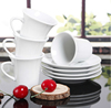 Haonai 2015hot sales! super white ceramic coffee cup and saucer set