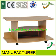flat packing wooden tv table with wheels