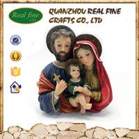 custom religious holy family statue
