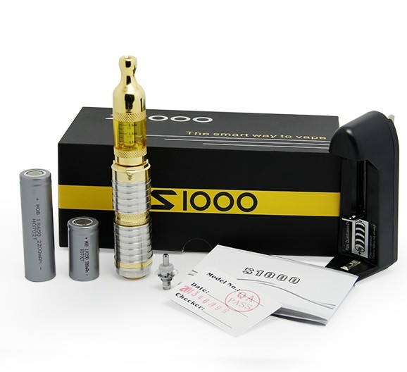 newest products 2013 atom mod ecig stainless steel S1000 18650 battery vv mod e-cigarette