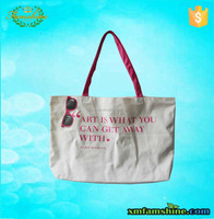 new customized tote bag cotton canvas for shopping