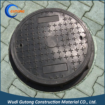 Quality assurance composite frp manhole cover with handle lawn communication