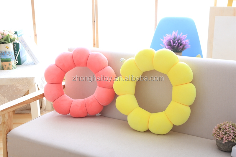 Colorful sun flower cushion plush toys/ sun flower Cushion/Plush Colorful Sun flower Pillow