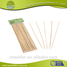2014 Hot Selling brass brush bamboo bbq stick\/skewer