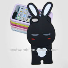 Lovely design Pirate Cartoon bear /Rabbit Silicone Case for iPhone5