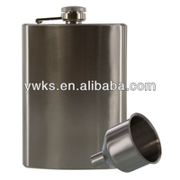 Promotional 8oz sanding hip flask with funnel