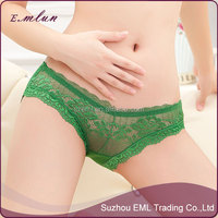 women new modal lace sexy brearhable briefs transparent panties