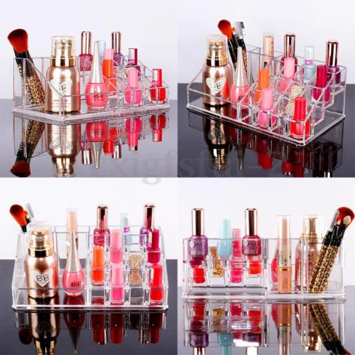 <strong>Acrylic</strong> Clear Make Up Organiser Cosmetic Display Jewellery Drawers Storage Case