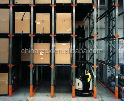 Warehouse storage stainless steel drive in rack