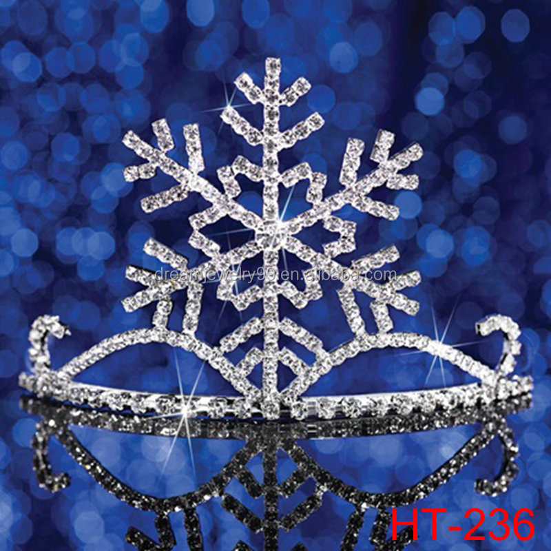 Snowflake Tiara Large Center Snowflake Design Winter Formal or Winter-themed Prom or Homecoming. Xmas Tiaras Christmas Headwear