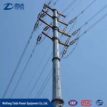 Business Opportunity 2017 132kv Overhead Transmission Line Steel Utility Poles
