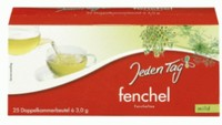 Jeden Tag fennel Tea dual-chamber tea bag 25s