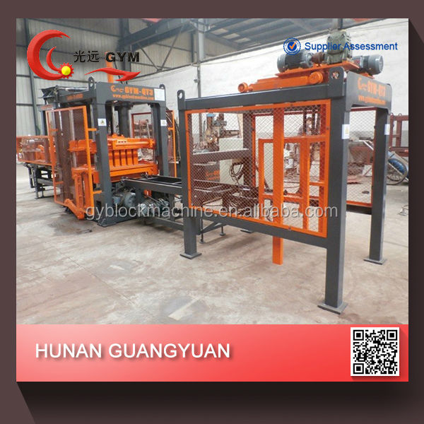 concrete brick production line Full automatic hydraulic hollow block making machine cement block making machine