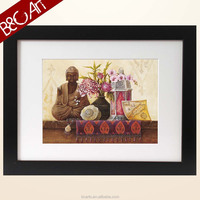 Best product for home wall decoration of buddha oil painting with frame