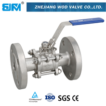 DN50 3pc stainless steel flange ball valve valvula de bola