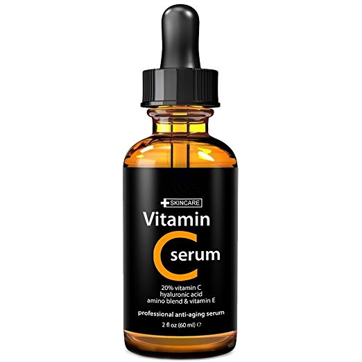 Vitamin C Serum for Face, 2 fl. oz - 20% organic Vit C + E + Hyaluronic Acid