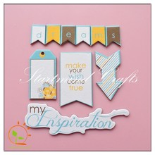 printed letter chipboard die cut pieces sticker for scrapbook