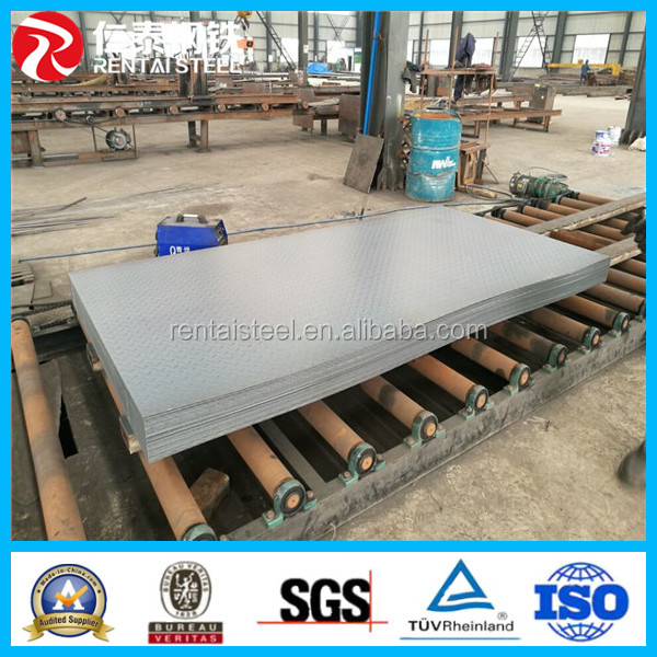 Manufacture Q235B Q345B MS standard checkered steel plate