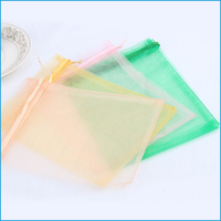 Wholesale popular design jewelry Christmas organza small gift bag 4*6