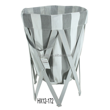 Patent Foldable Wooden Canvas Laundry Basket