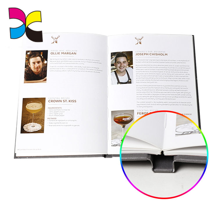 Sales new design popular wholesale OEM custom ribbon bookmark hardcover book