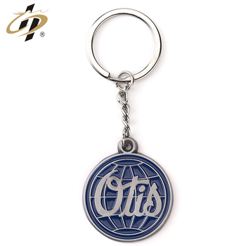 Cheap custom your own western style metal keychains with enamel logo