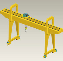 10T small single girders gantry lifting hoist crane manufacture