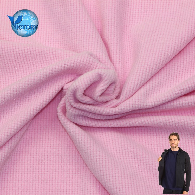 Knitted Weft Fabric One Side Square Spandex Polar Fleece