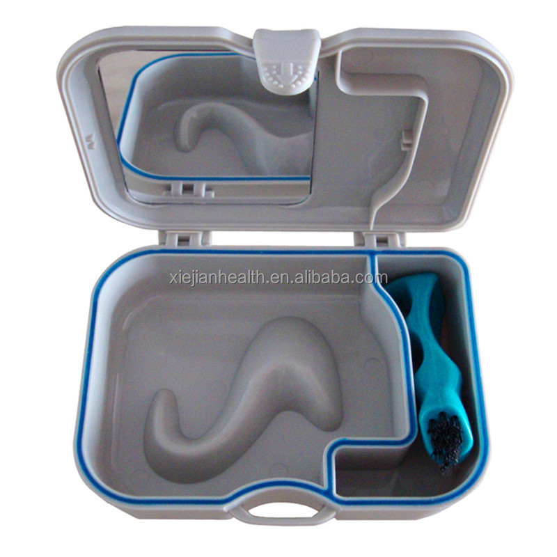 Hot sale dental retainer case/dental storage box/denture denture case bath box