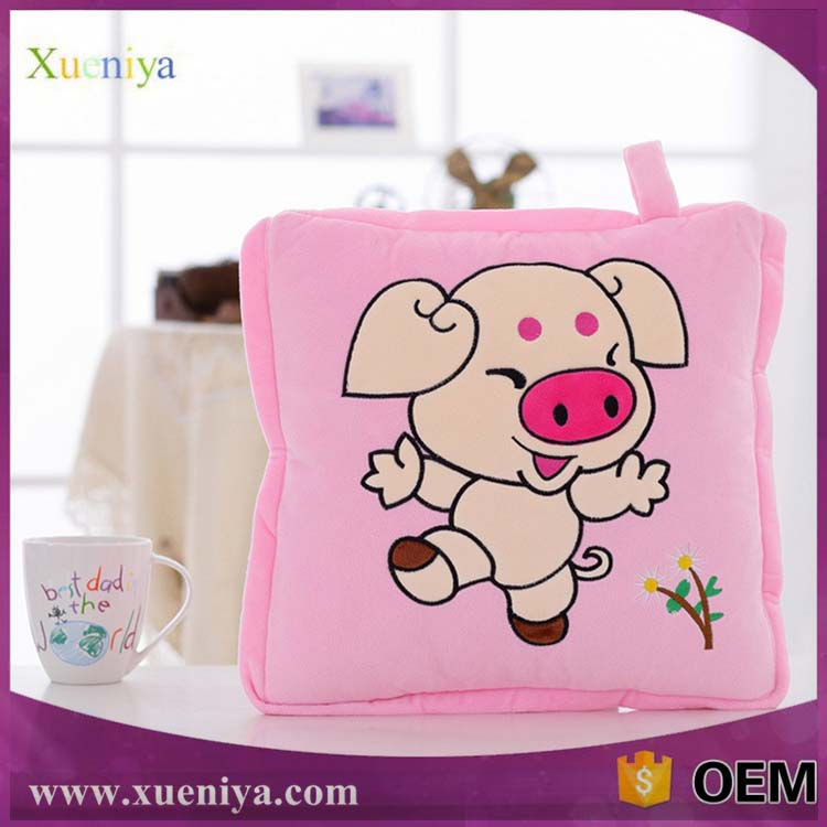 No MOQ Cartoon Quilt Custom Soft Animal Embroidery Baby Pillow Case