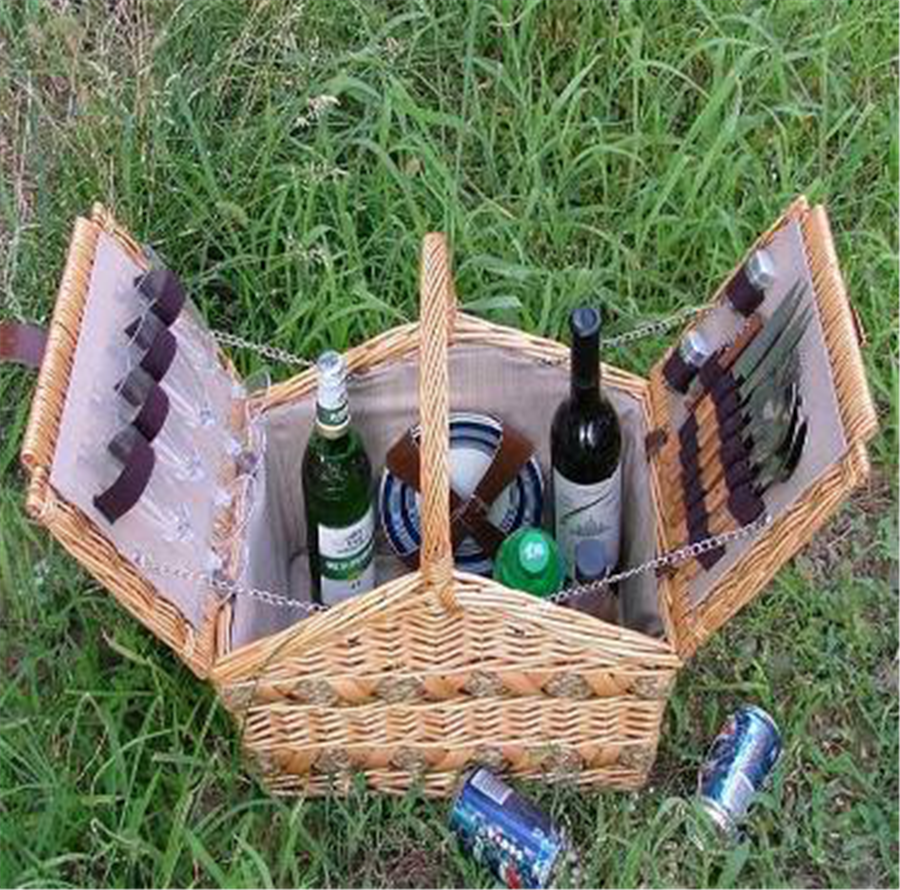 Picnic Basket Jakarta : Wholesale person picnic basket with plate glass wicker