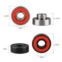 Hot Sale different colour Miniature Abec 7 Roller Skate Bearings 608rs