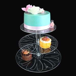 3 Tiers Maypole Acrylic Cupcake Party Wedding Cake Display Stand