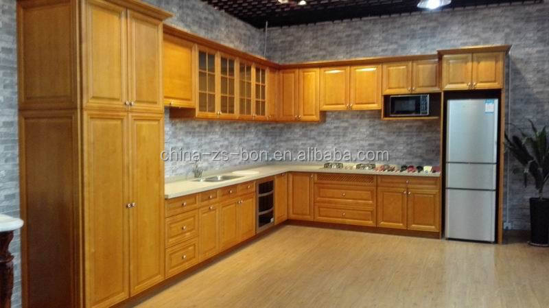 european style frameless wood kitchen cabinet for sales