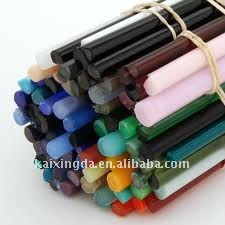 Colored Pyrex glass rods / borosilicate glass rod 3.3