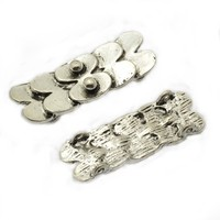 Anti-silver shoe-shaped gold ingot money make charms chain for decoration A25052