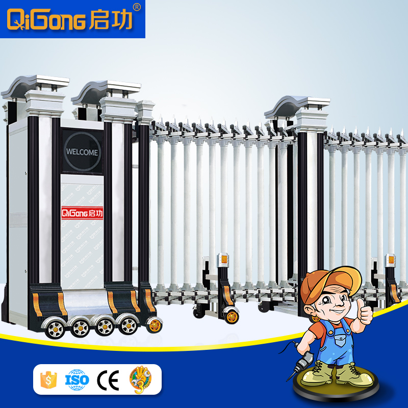 Nice and strong design Aluminium automatic security main gates for house QG-L1716