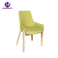 Fashion design green fabric home furniture cheap replica chair with armrest