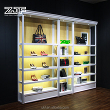 Multifunction lacquered display shoe <strong>shelves</strong> modern handbag shop clothing display <strong>shelf</strong> for sale