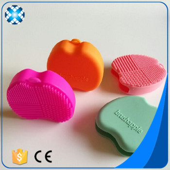Apple brushegg silicone makeup brush cleaner mat