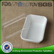 Biodegradable food packaging sugarcane bagasse pulp hinged food containers