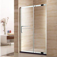 stainless steel profile one sliding door tempered glass shower screen D41