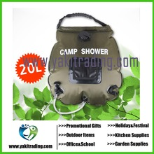 Outdoor Camping Hiking 20L / 5 Gallons Solar Energy Heated Camp Shower Bag High quality PVC Water Bag