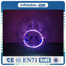 LED Inflatable Bubble Soccer Ball, Lighting Inflatable Flash Sparkle LED Bubble Ball Football